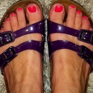 Birkenstocks size 38/US 8 leather 2 strap sandals